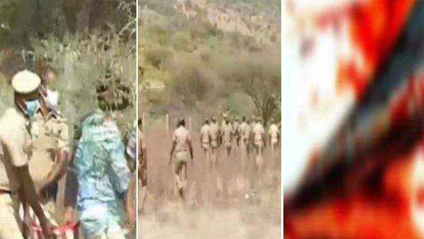 Bomb policeman killed in Vallanadu forest area in thoothukudi
