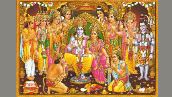 Pray with the picture of Shri Ram Pattabhishekam - Family Unity will be successful