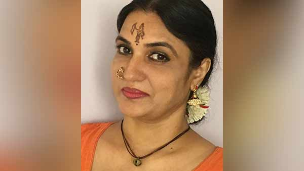 Actress Sukanya has painted a picture of Sri Ram on her forehead, viral on the social media