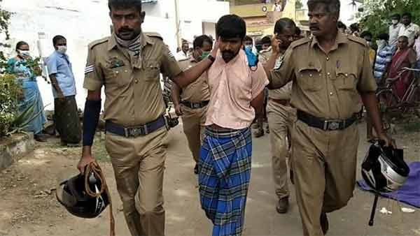 youth arrested due to killed grandma in rasipuram
