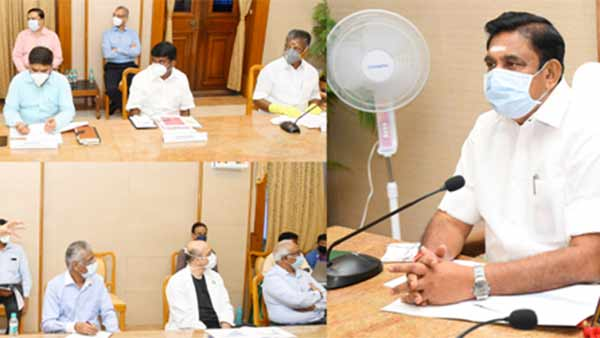 CM Edappadi Palanisamy discussing with doctors about corona status in Tamil Nadu