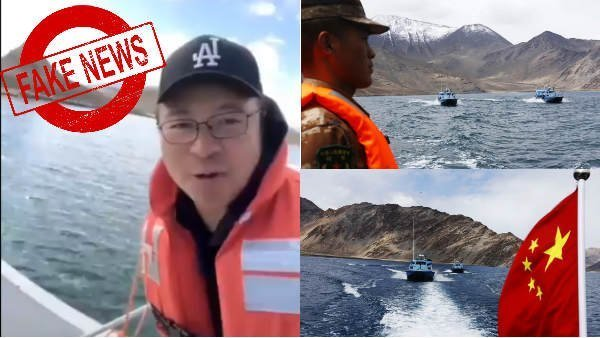 Viral video of Chinese tourists at Pangong Lake is not from indian territory
