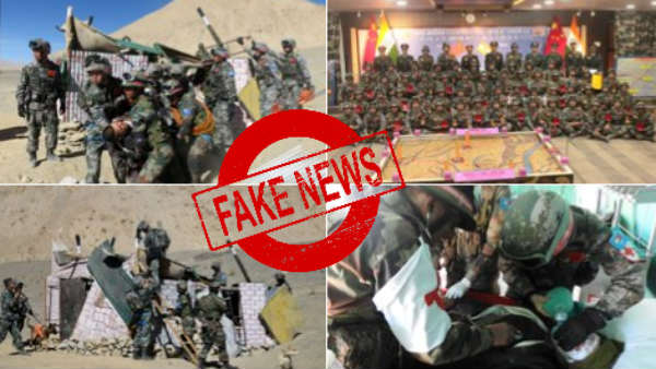 Fake News : Old image of India-China soldiers goes viral