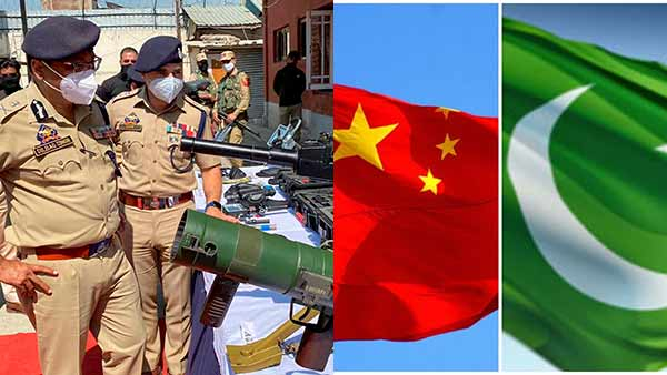 China has instructed Pakistan to send weapons to Jammu kashmir