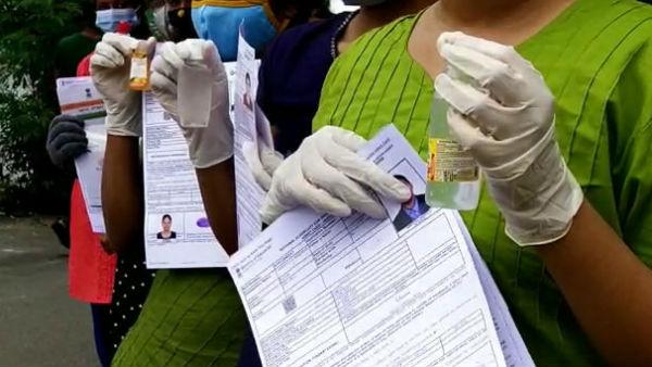 நீட் தேர்வு - கரூர் மாணவருக்கு கொரோனா | coronavirus latest updates in tamil  news highlights india - Tamil Oneindia