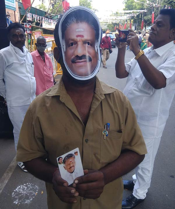 AIADMK General body meeting OPS supporters wearing masks