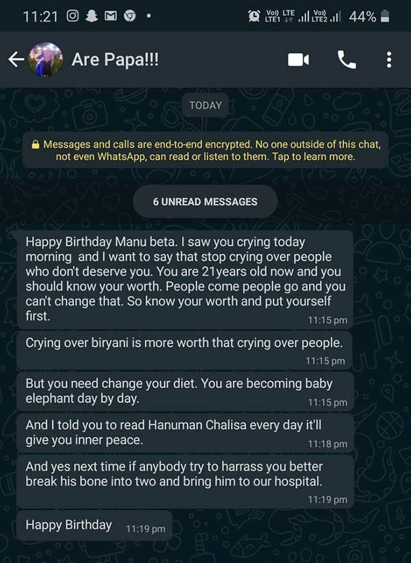 Viral birthday message of a father to his daughter
