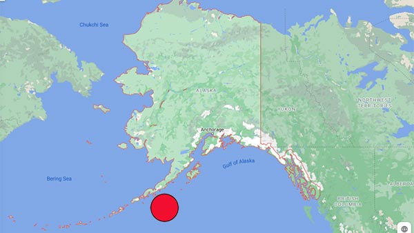 Powerful earthquake in the state of Alaska in the United States