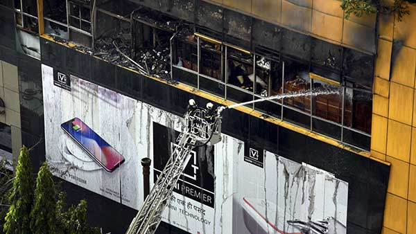 Fire accident at Mumbai city center mall in midnight