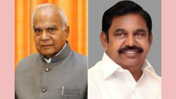 7.5% இடஒதுக்கீடு: தமிழக ஆளுநர் பன்வாரிலால் புரோகித்துடன் முதல்வர் பழனிசாமி சந்திப்பு