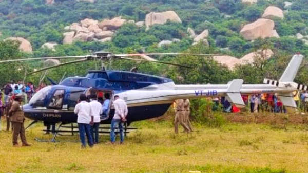 Tamilnadu Jewellery family escapes from tragedy as the helicopters emergency landing