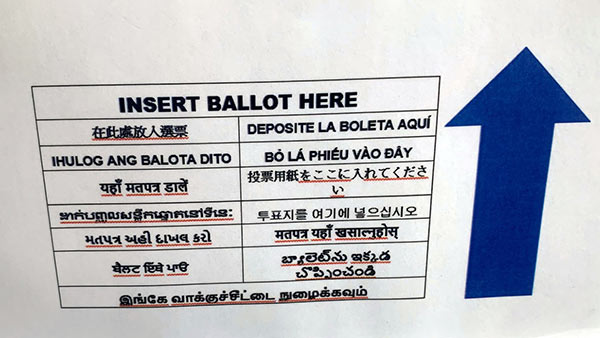 Instruction for US Polls given in Tamil Language