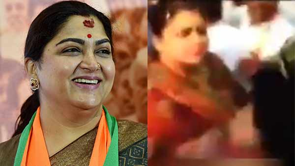 Fake: Khushbu Sundar did not slap a BJP worker during a recent roadshow