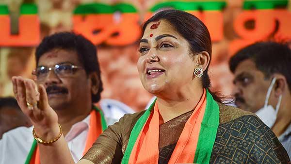 தேர்தல் நேரத்தில் மட்டும் சிலருக்கு கடவுள் தேவைப்படுகிறாரோ... யாரை கேட்கிறார் குஷ்பு
