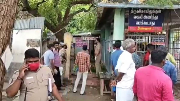 A priest was hacked to death by a mysterious gang in front of Madurai Pandi temple