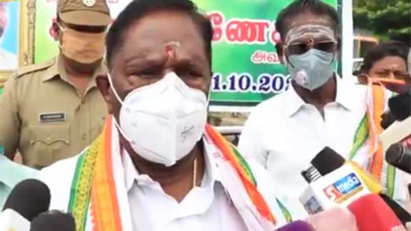 Puducherry CM, Congress MLAs go on hunger strike