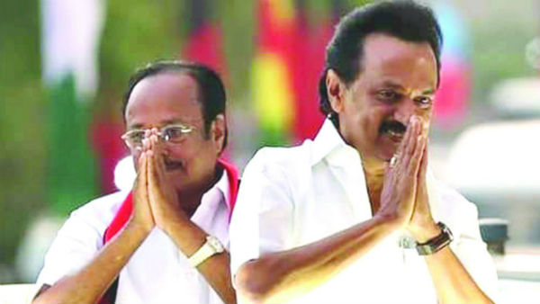Dmk president Stalin meets with Kongu regional executives on Oct. 21