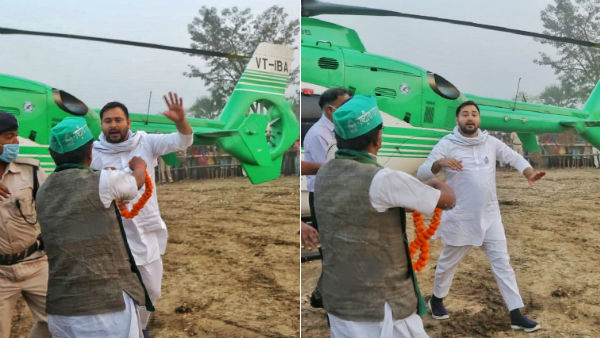 Bihar elections: Crowd mobs Tejashwi's helicopter, RJD raises security concerns
