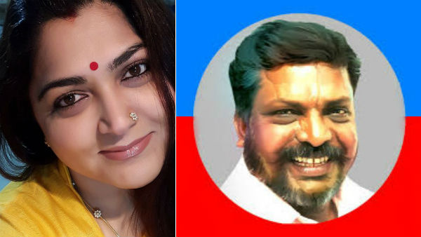 What is the actual reason why Kushboo got involved in the struggle against Thirumavalavan