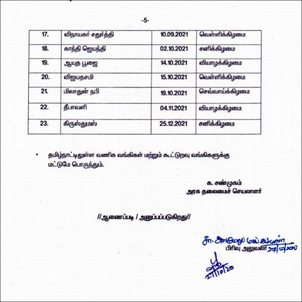 23 public holidays announced for Tamilnadu in 2021