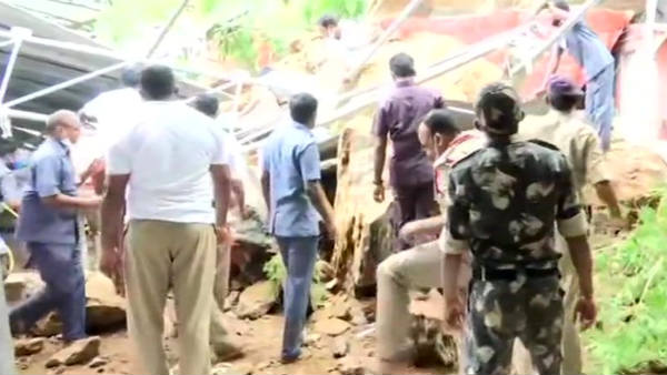 Landslide at Andhra Pradeshs Kanaga Durga temple in Vijayawada
