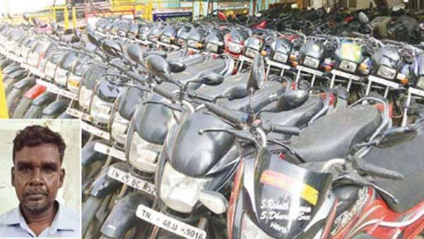 Young man arrested in Trichy for looting 2 wheelers