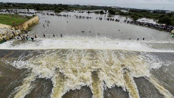 செம்பரம்பாக்கம் ஏரி திறப்பு.. அதிகரிக்கும்  நீர் வரத்து .. மேலும் அதிகளவு நீர் திறக்கப்பட வாய்ப்பு