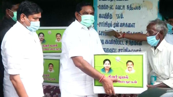 CM Edappadi K. Palaniswami visits a relief camp in Devanampattinam of Cuddalore