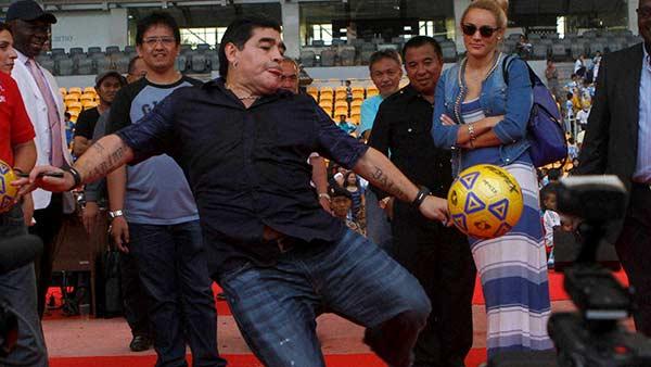 Football player diego maradona has died