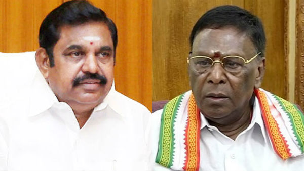 Nivar ready to attack ... CMs Palanisamy and Narayanasamy who set out to prevent it