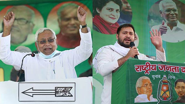 Nitish kumar and Tejashwi Yadav