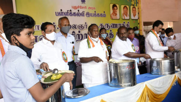 Breakfast program named after Karunanidhi in Puducherry