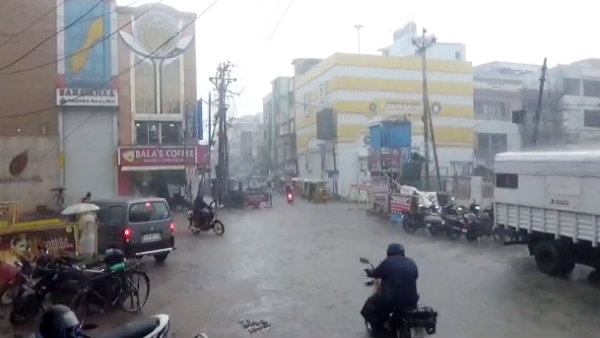 Rain pouring in Madurai city since morning