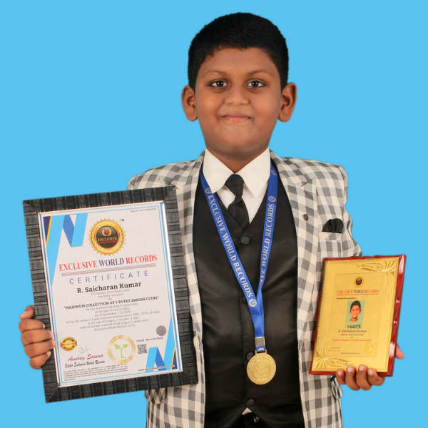 two chennai boys Exclusive World Records for coin collection