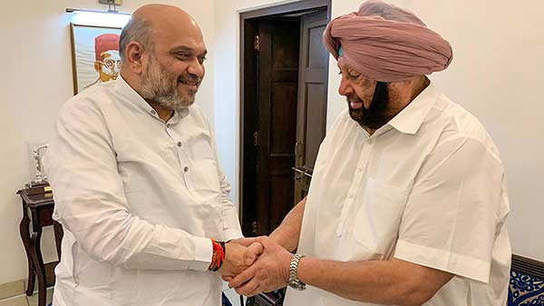 punjab cm amarinder singh will meet amit shah today