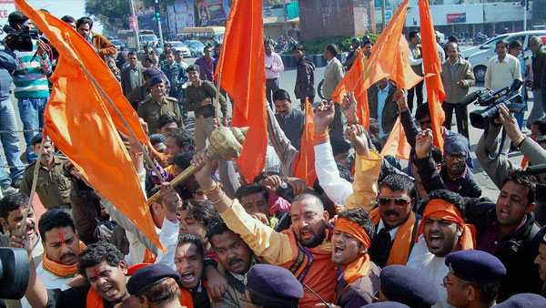 Bajrang Dal leader said Hindus will be beaten if they go to church