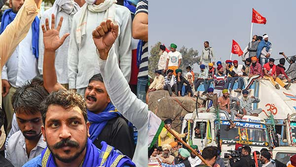 Bhim Army, JNU Students join Delhi farmers protest