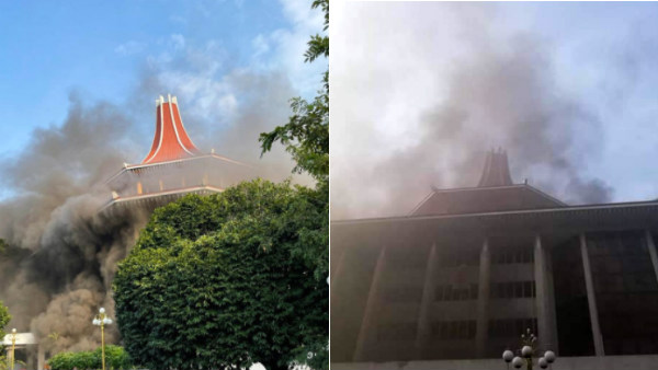 Fire at Srilanka Supreme Court complex