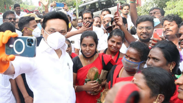 MK Stalin selfie taken with the people is goes on viral