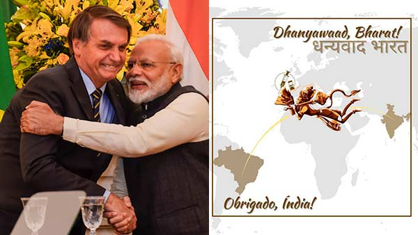 Brazil President Bolsonaro tweets thanks to India with picture of Lord Hanuman for sending vaccine