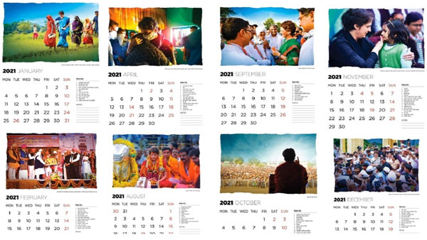 Priyanka Gandhi calendar UP 2022 assembly election congress