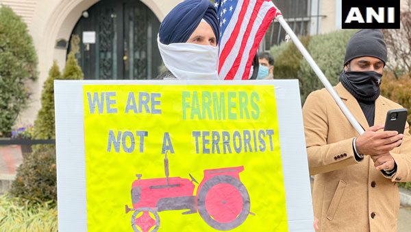 Khalistan Supporters Protest In US In Support Of farmers