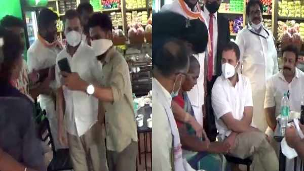 Rahul Gandhi stops for tea at shop in Tiruppur
