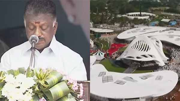 We will always remember says OPS to Jayalalithaa Memorial opening ceromony