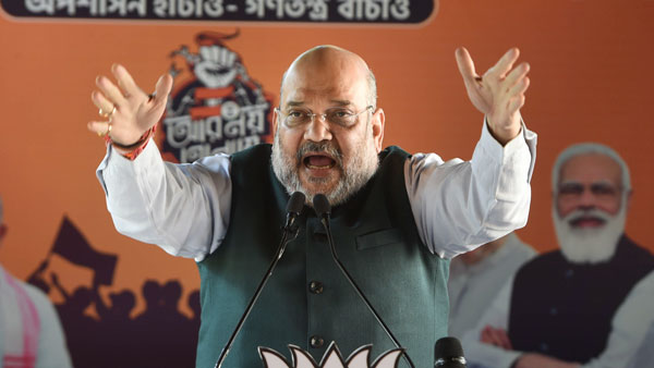 Amit shah expressed his sad about tamil fluency puducherry assembly election 2021