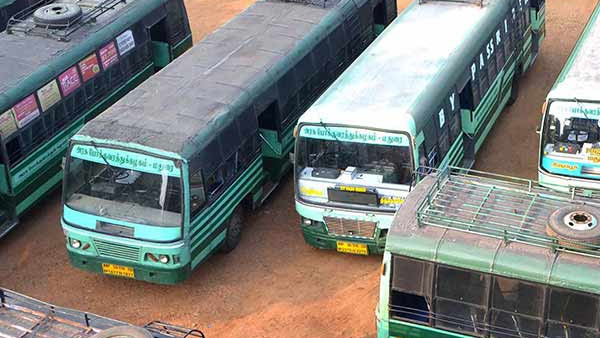 Transport workers strike in Coimbatore, On the 2nd day, 70 percent of buses not running