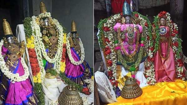 மாசி மகம் 2021 : திருக்கோஷ்டியூர் சௌமிய நாராயண பெருமாள் கோவிலில் பக்தர்கள் தீபம் ஏற்றி வழிபாடு