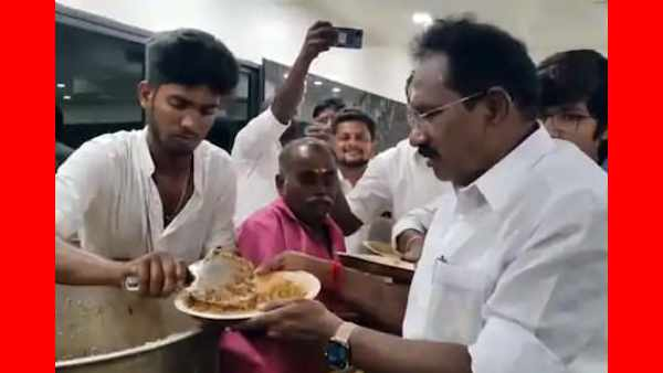 Sellur Raju had Biriyani with ADMK members