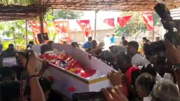 Mortal remains of D. Pandian, laid to rest near Usilampatti