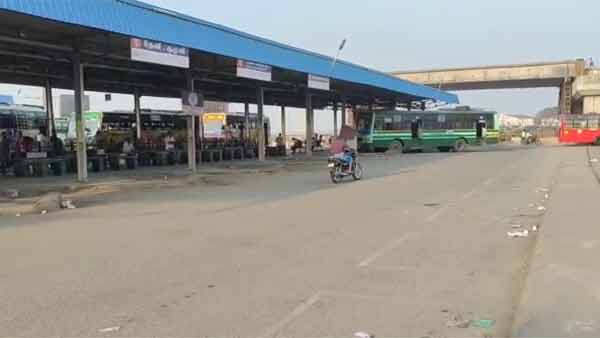Transport workers strike in Coimbatore, On the 2nd day, 60 percent of buses not running